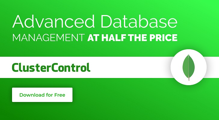 Advanced database management at half the price with ClusterControl