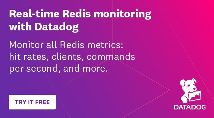 Real-time Redis monitoring with Datadog