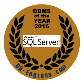 Microsoft SQL Server is the DBMS of the Year