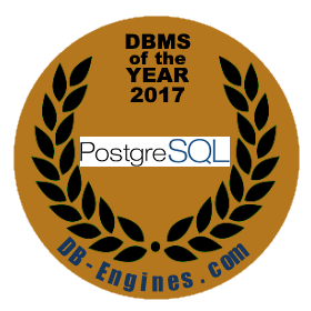 PostgreSQL DBMS of the year 2017