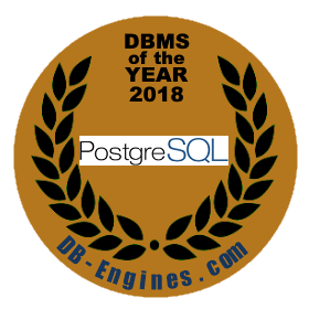 PostgreSQL DBMS of the year 2018