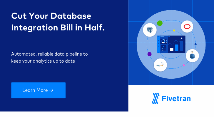 Cut your database integration bill in half.